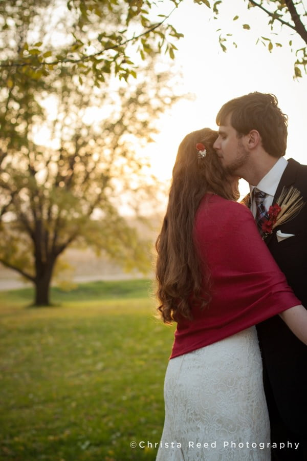 you wedding photography timeline can include romantic sunset portraits like this