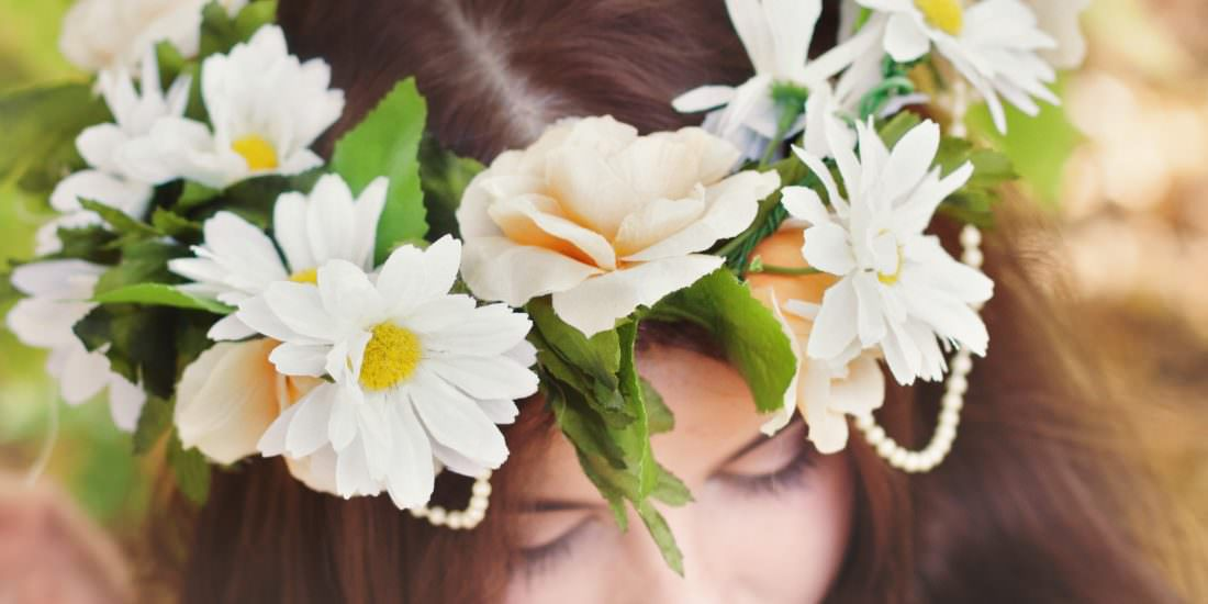 Flower crown wedding inspiration minnesota wedding photography a crown of flowers is a simple chic look that any bride can incorporate into her wedding without having to spend a fortune on use real flowers or silk we mightylinksfo