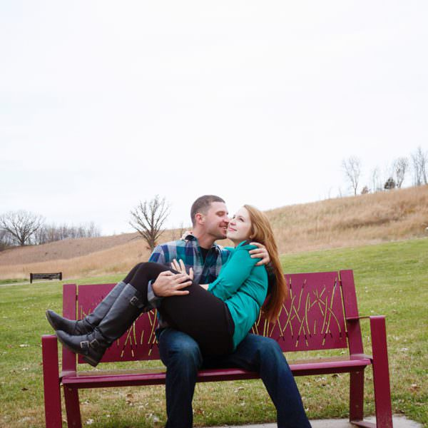 Carver Minnesota Outdoor Engagement Photography