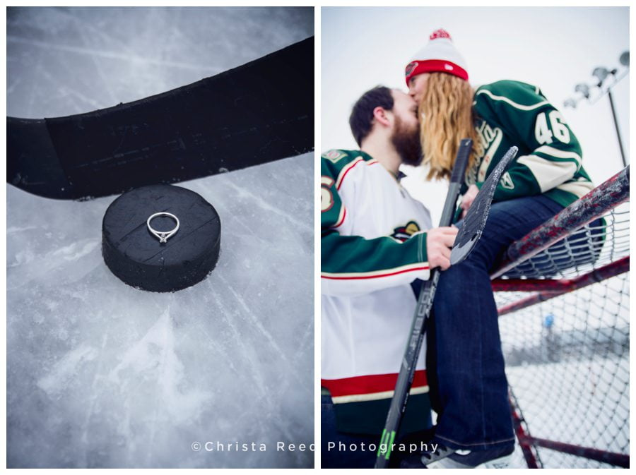 St. Paul Hockey Engagement Shoot