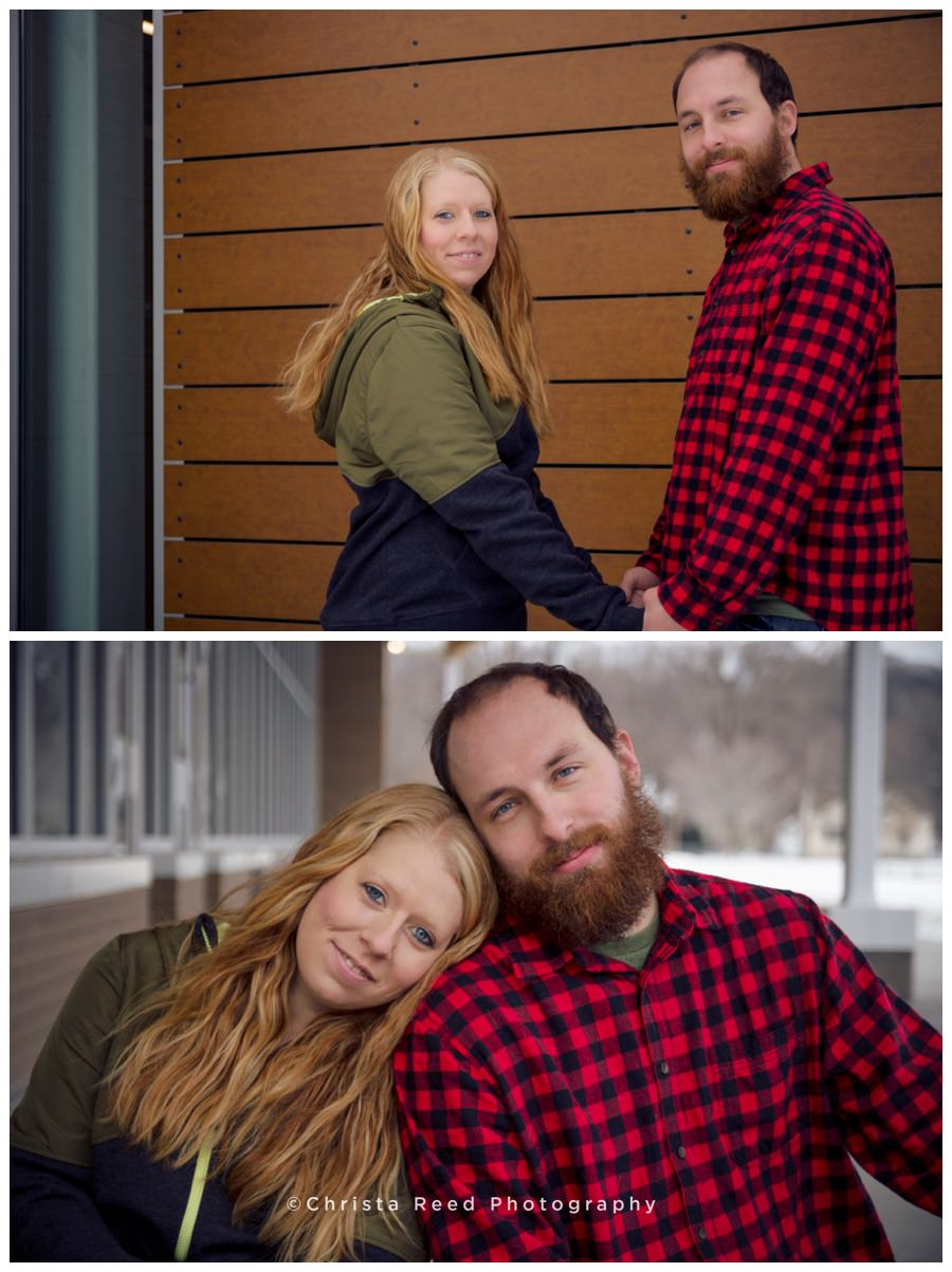 Winter Engagement Shoot Flannels