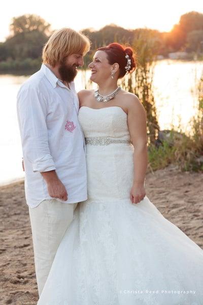 Minneapolis wedding photographer beach wedding