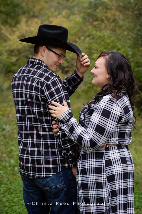 Jordan, MN engagement photographer, country cowboy engagement session