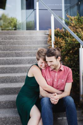engagement portraits at the gutherie theater in minneapolis