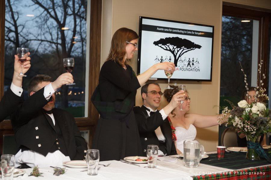 minnetonka wedding photographer wedding toast