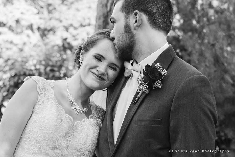 documentary wedding photography black and white portrait mankato