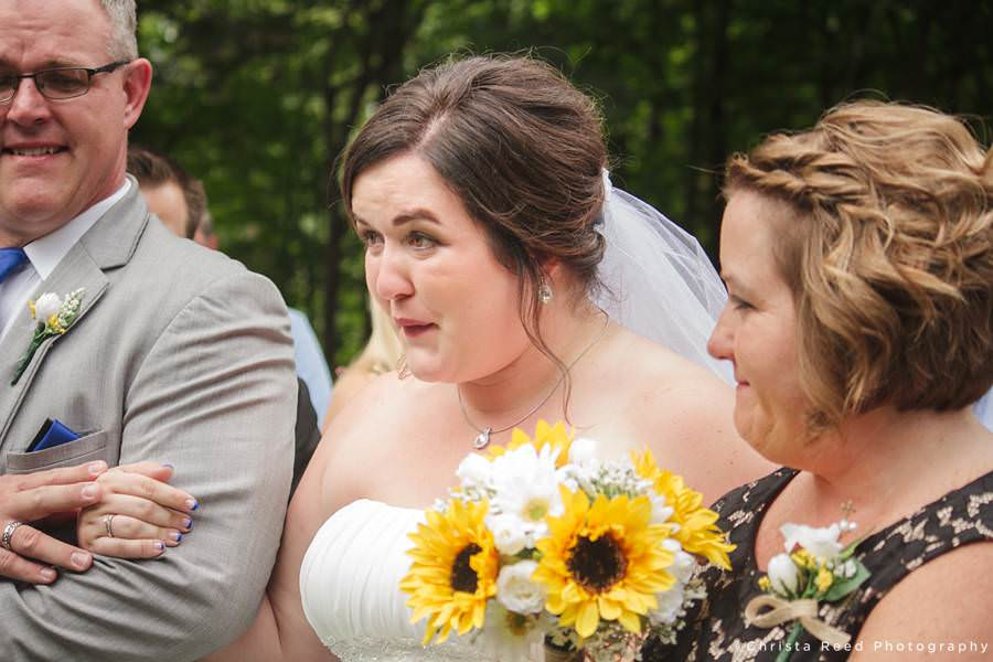 bride with parents crying at your wedding