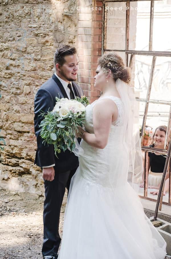 st paul wedding photographer first look