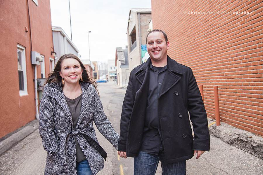 downtown shakopee engagement portraits