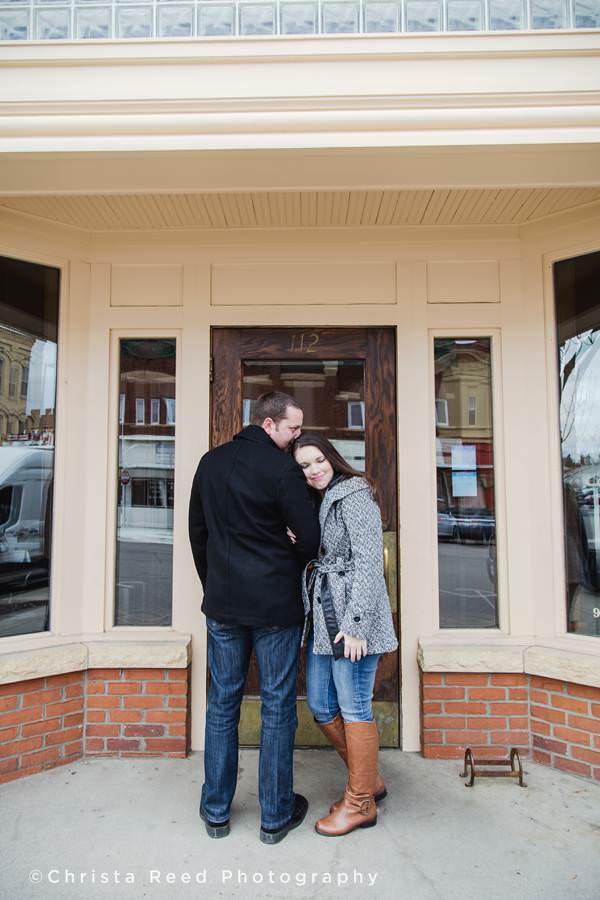 downtown shakopee engagement photography