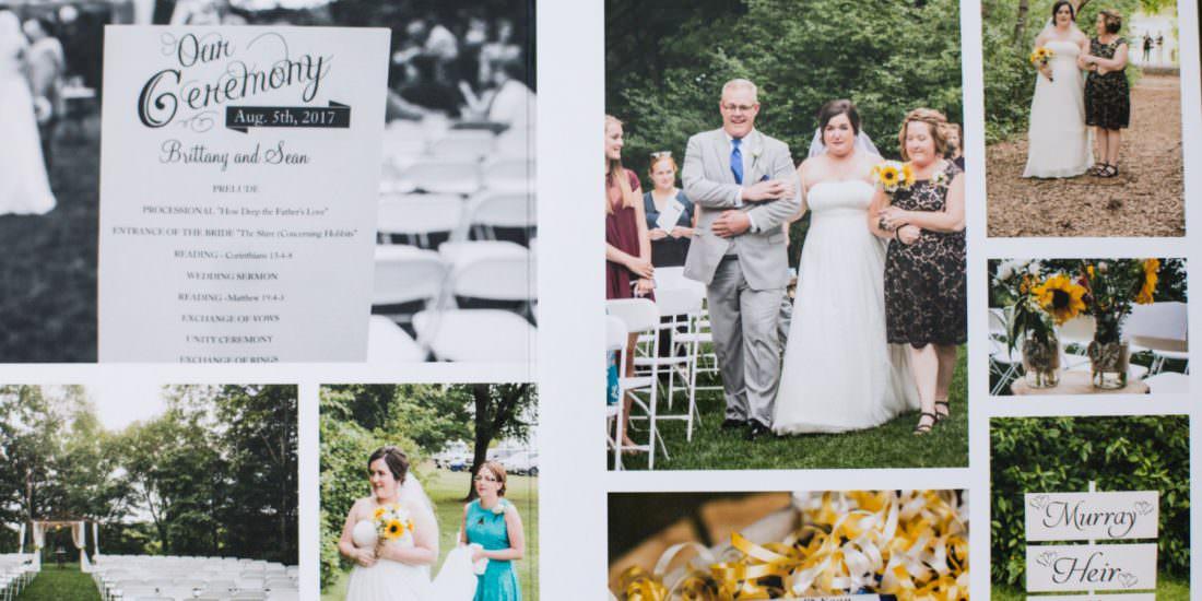 Wedding Album Design Brittany Seans Chanhassen Wedding