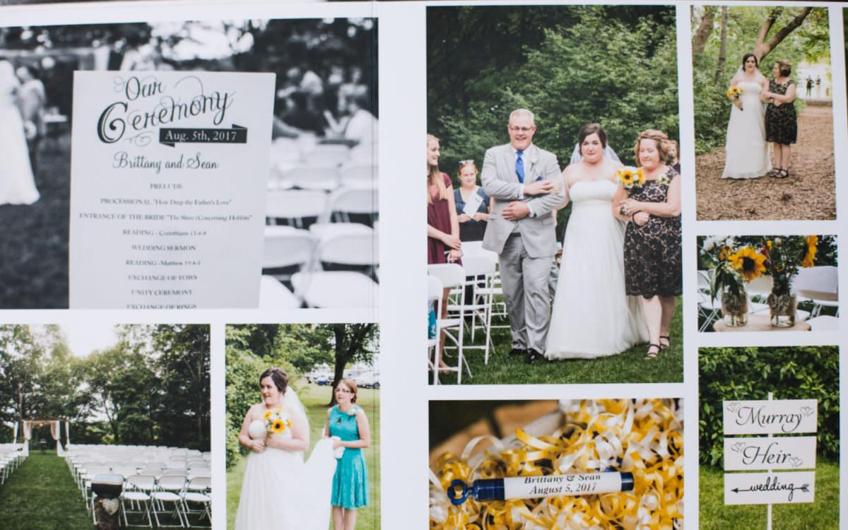 Wedding Album Design | Brittany + Sean's Chanhassen Wedding