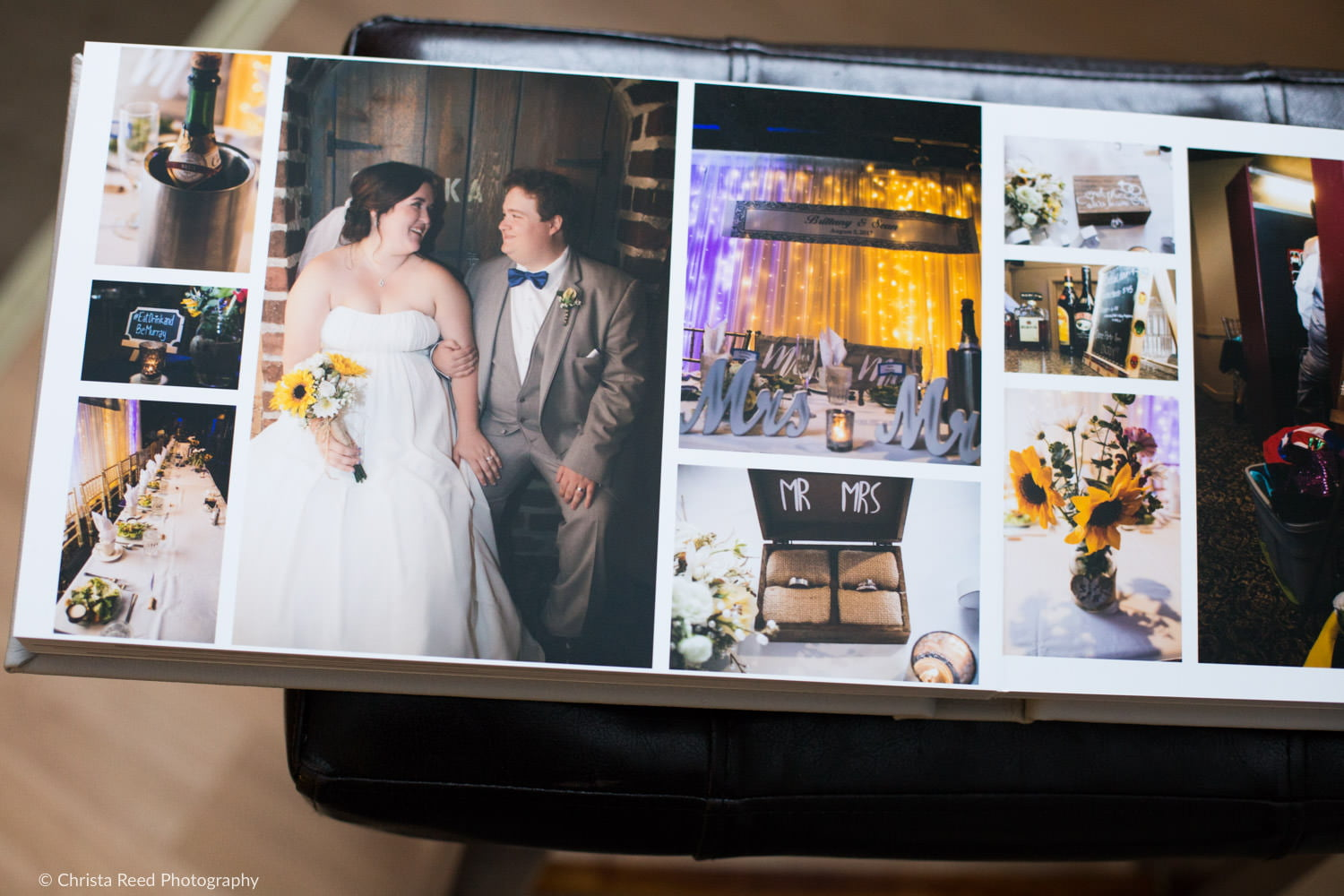 wedding reception at the chanhassen dinner theatre in a wedding album by Minnesota photographer