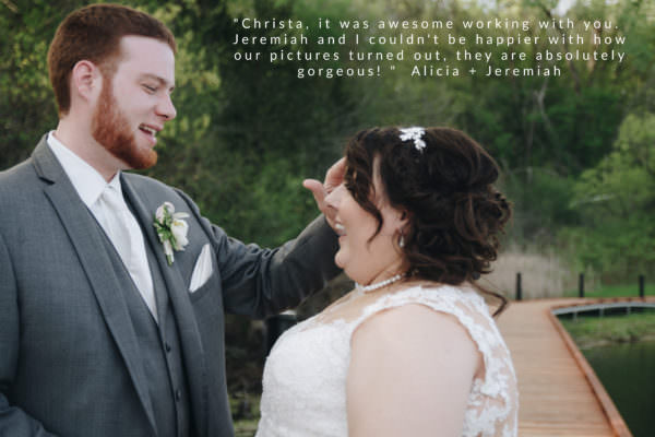 A smiling couple in Chaska on their wedding day © Christa Reed Photography