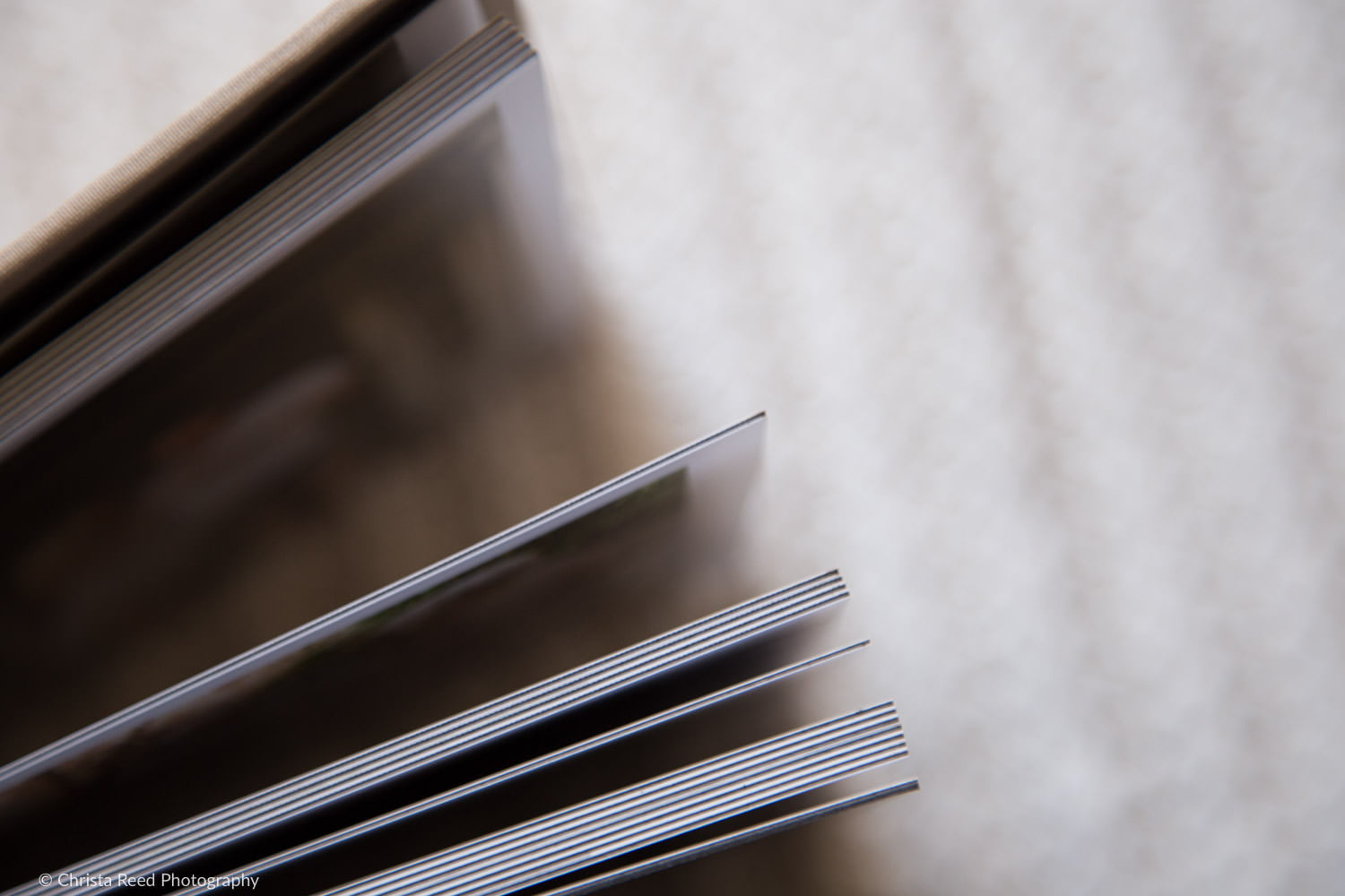 a wedding album with thick pages for st. paul wedding photography