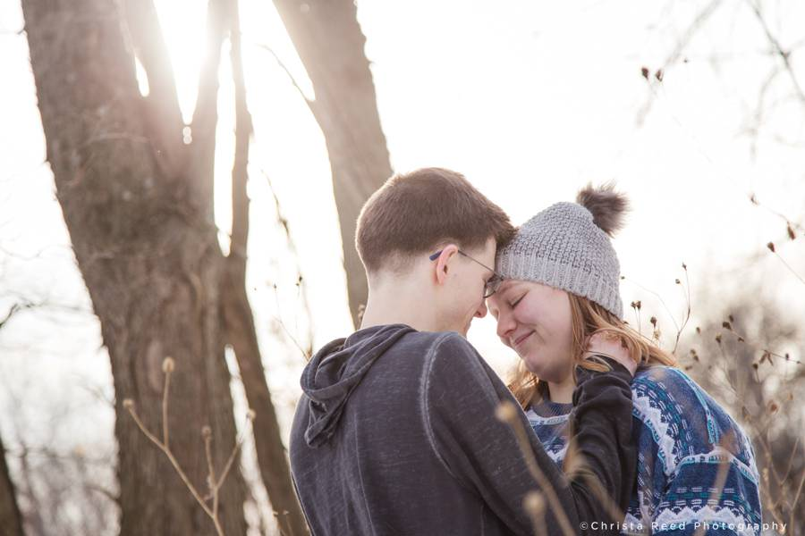 romantic outdoor sunset engagement and couples portraits by Minnesota Couples Photographer