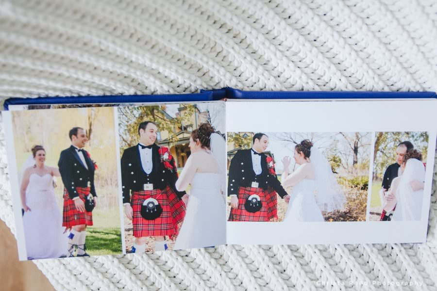 leather wedding albums full page spread