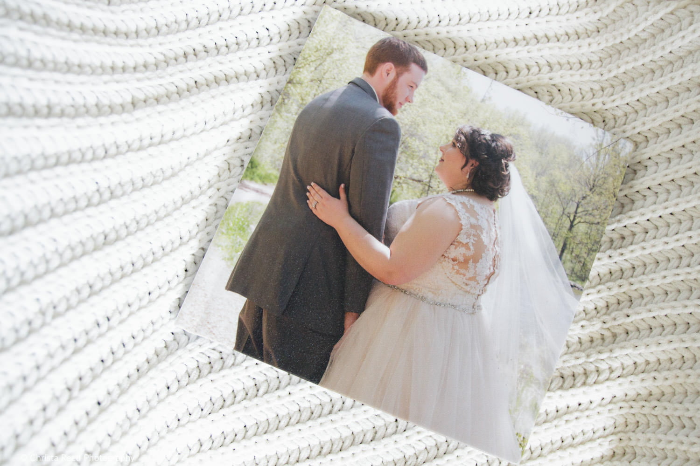 photographic album cover by chaska wedding photographer