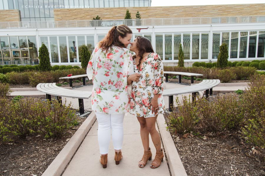 love is love como conservatory engagement shoot