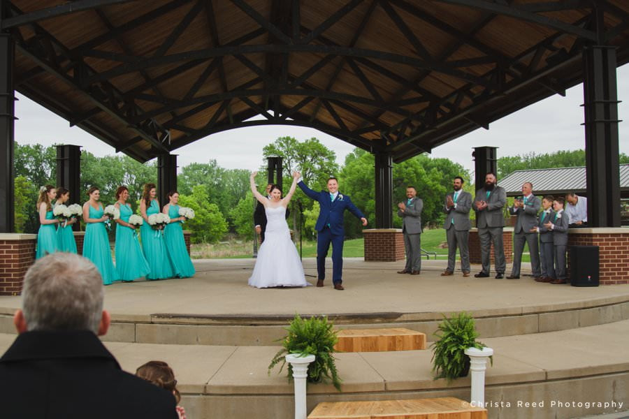 huber park wedding with reception at turtles 1890 social centre