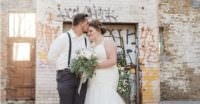 a couple at their brewery wedding st paul wedding photographer
