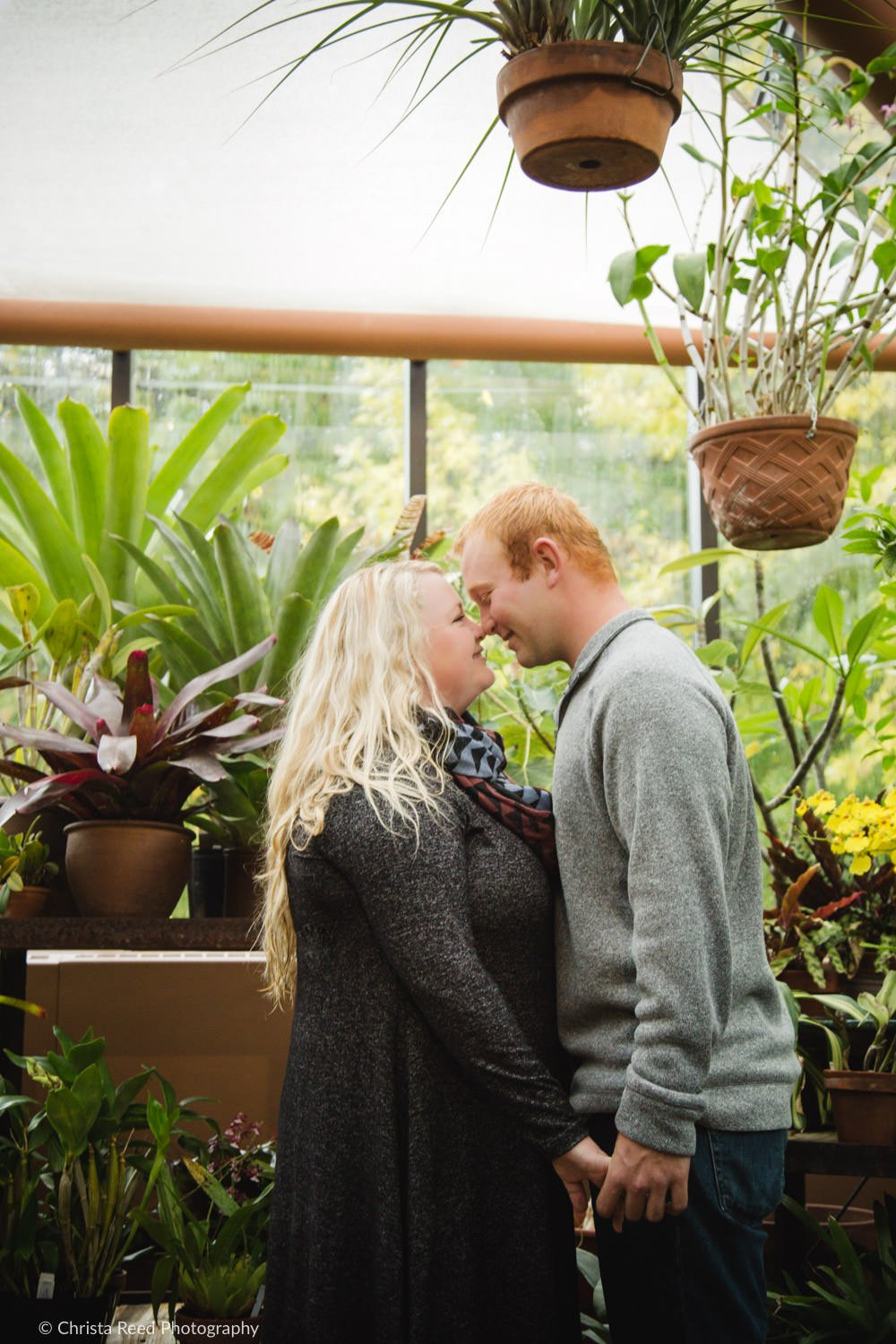 the arboretum greenhouse for a chaska engagement shoot