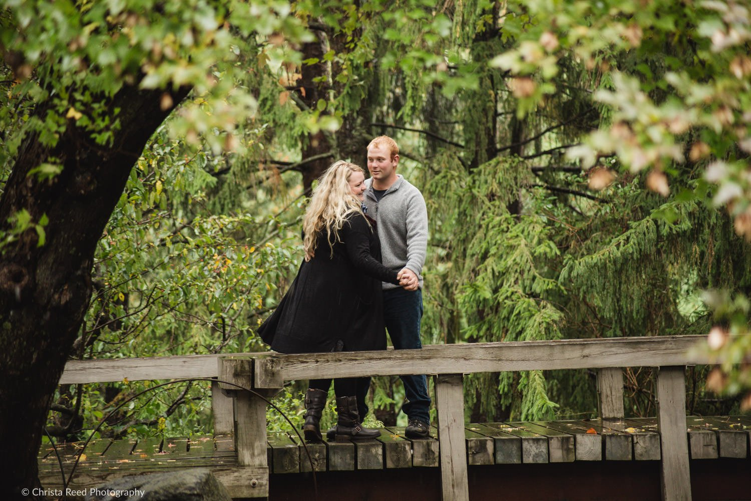 a couple dances together during their chaska engagement shoot