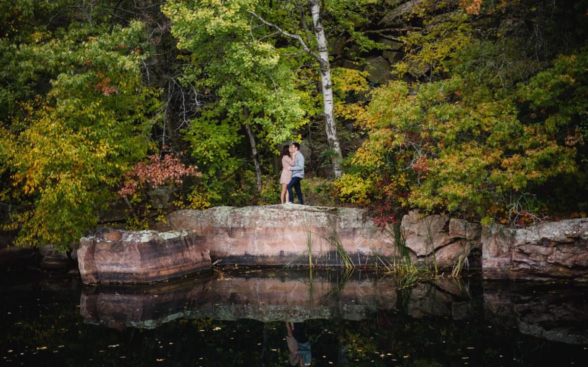 St. Cloud Quarry Park Engagement Photographer