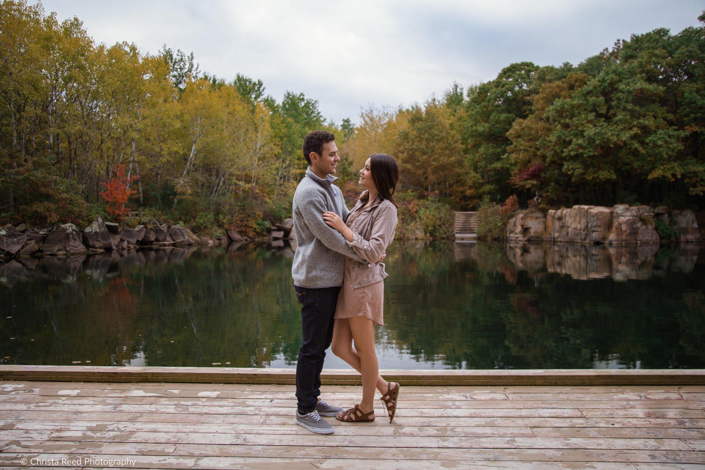 St. Cloud Quarry Park engagement photographs are an adventure