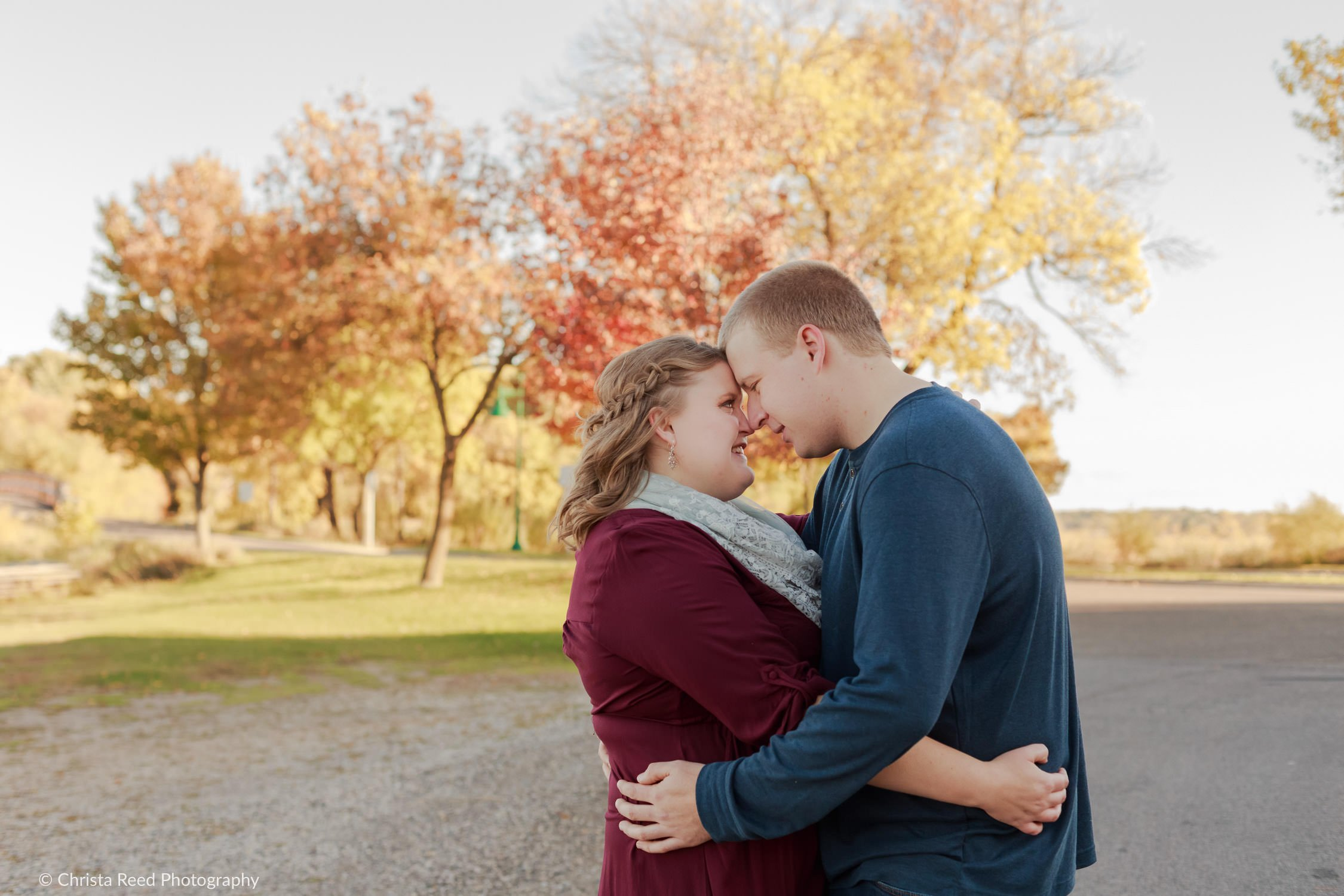matoska park in white bear lake engagement photos