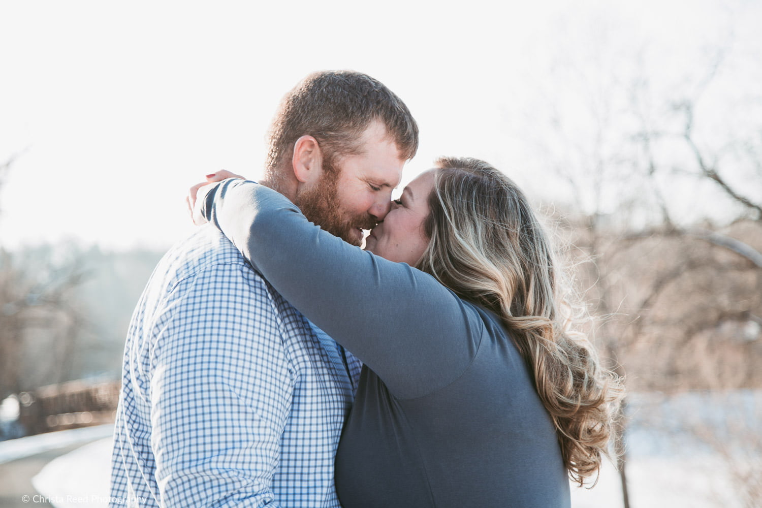 natural engagement shoot in carver mn