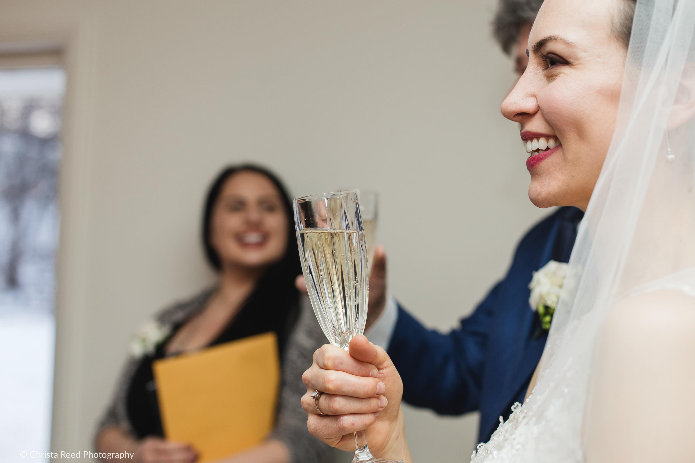champagne toast for a minnetonka wedding