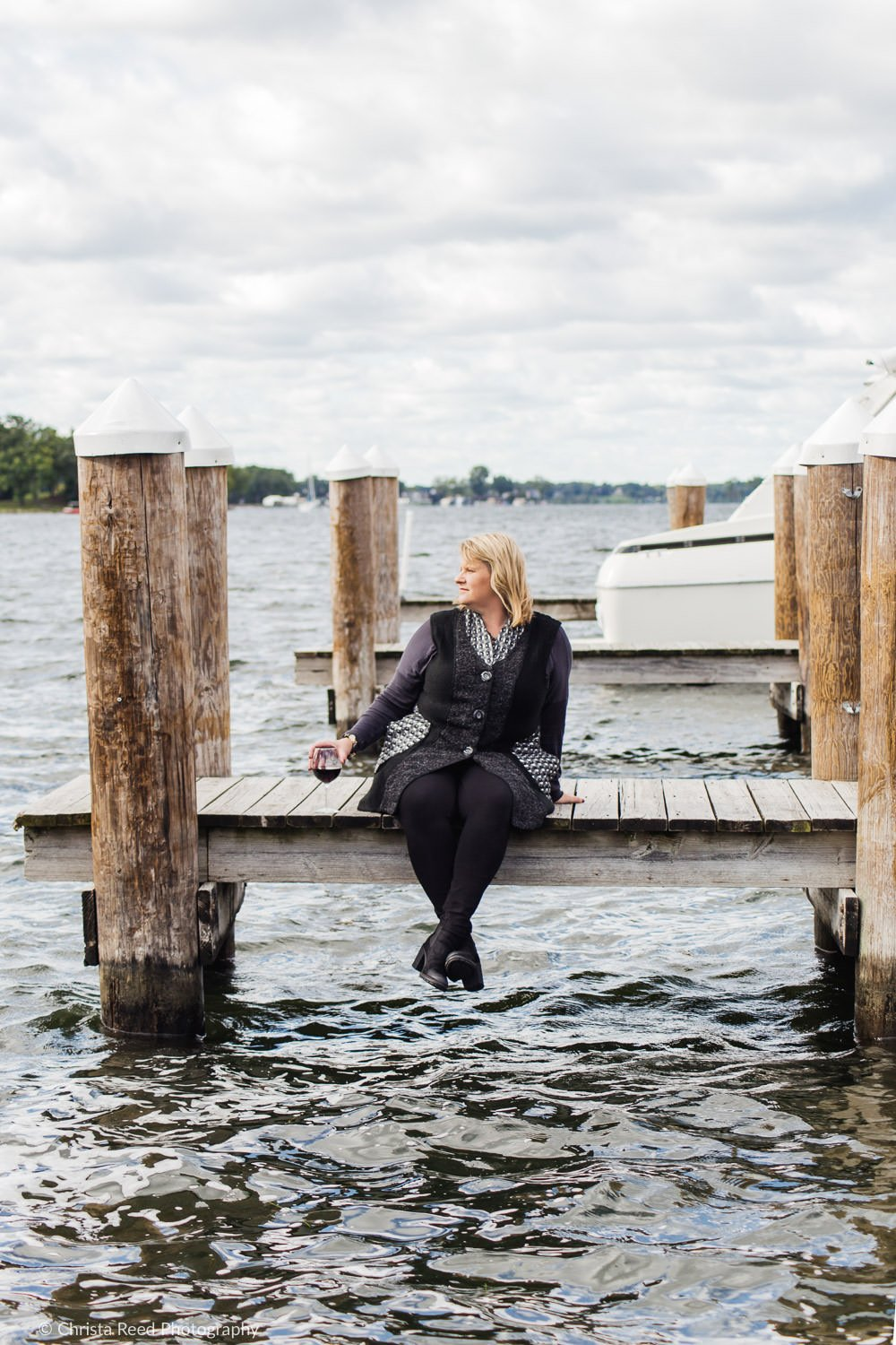 personal branding headshots on Lake Minnetonka