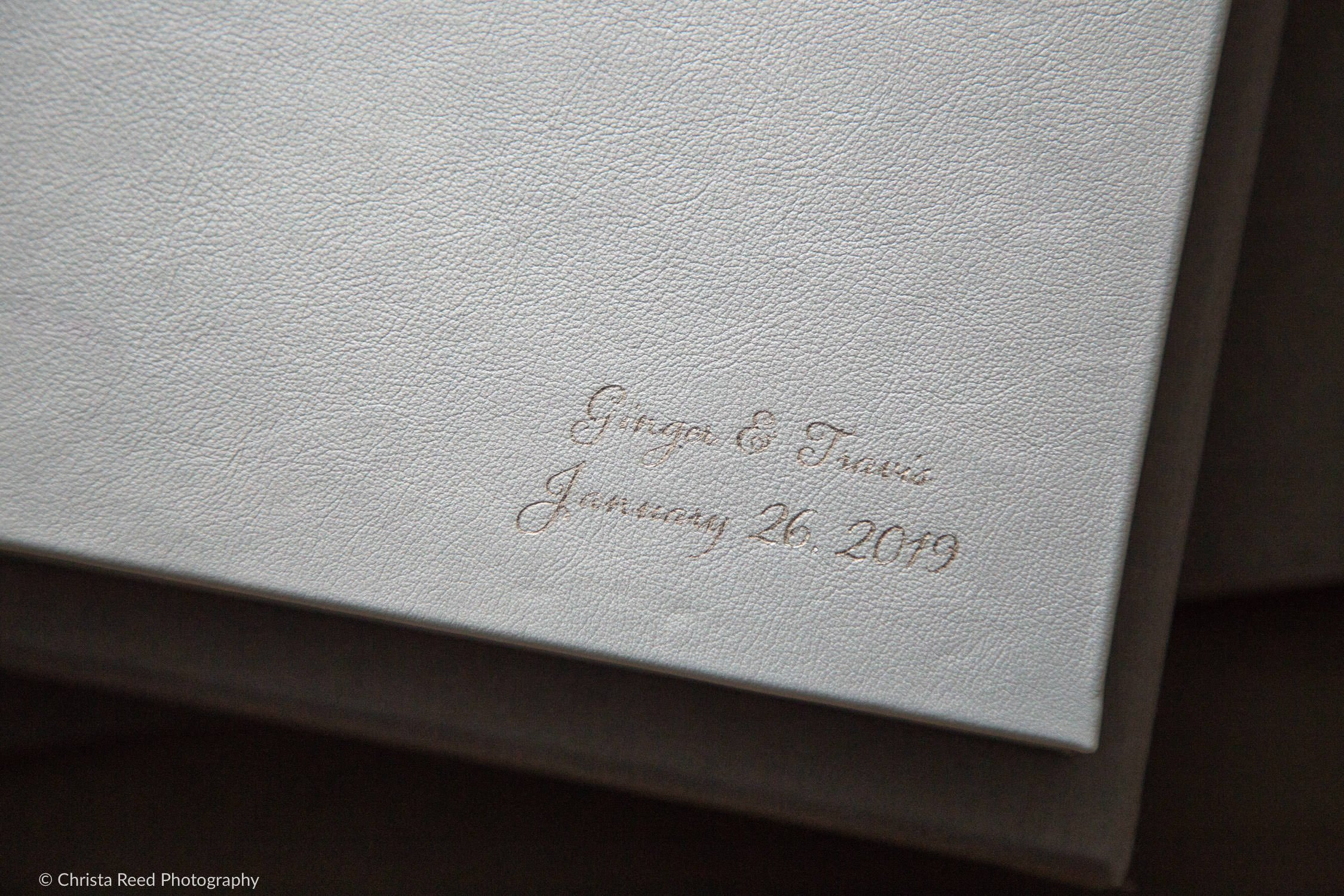 silver stamped wedding album
