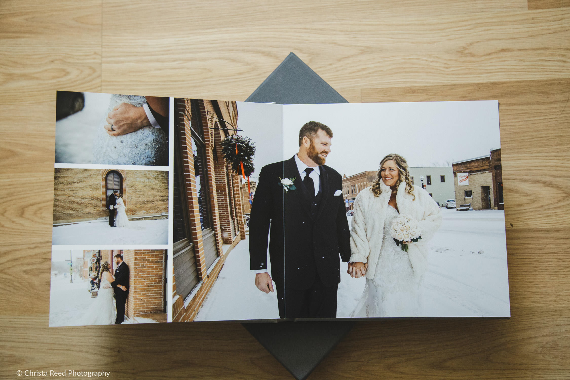 lay flat leather wedding album