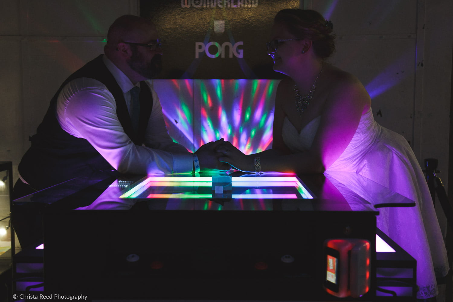 having a pong game at your wedding