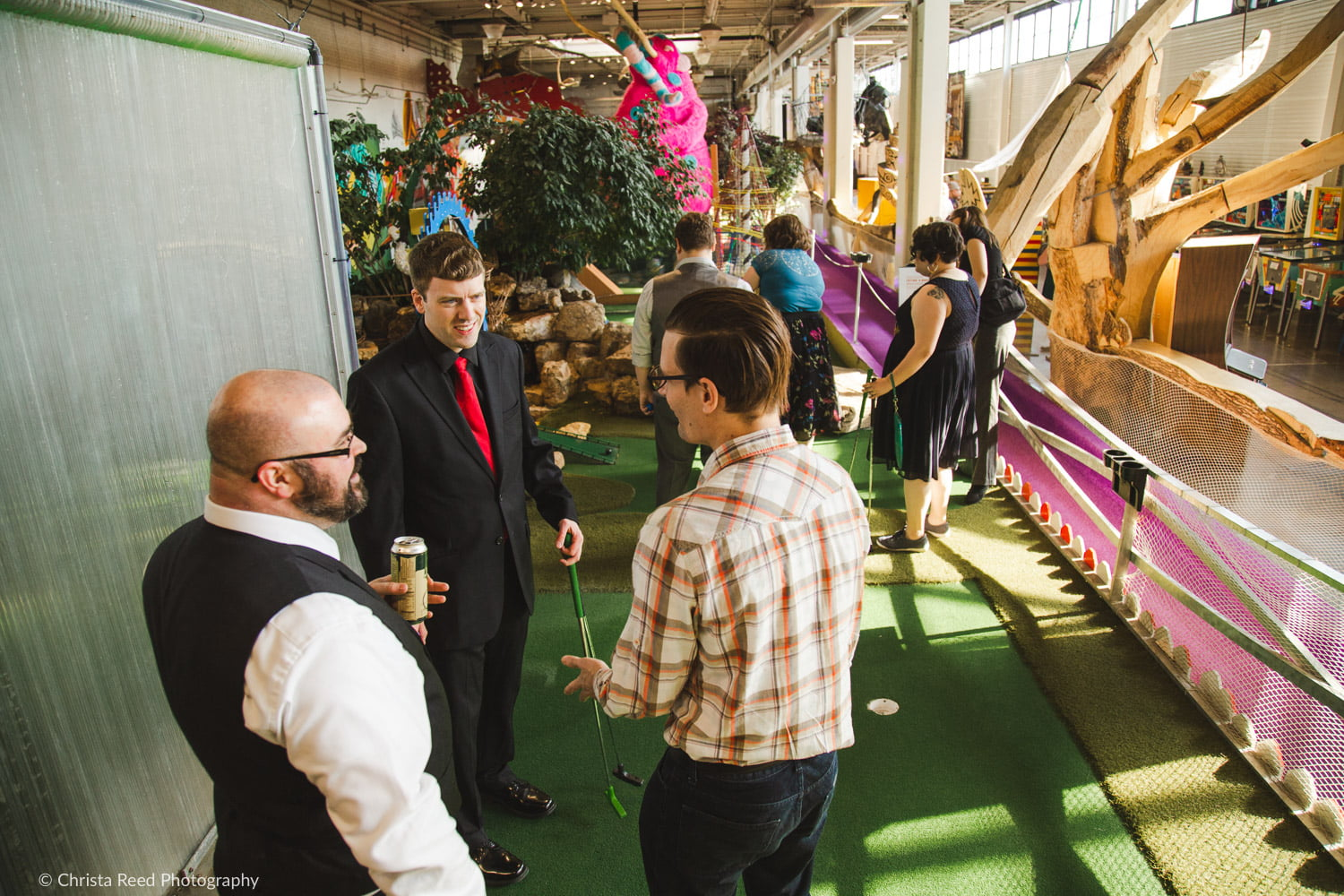artist designed mini golf course at Can Can Wonderland in St. Paul, MN