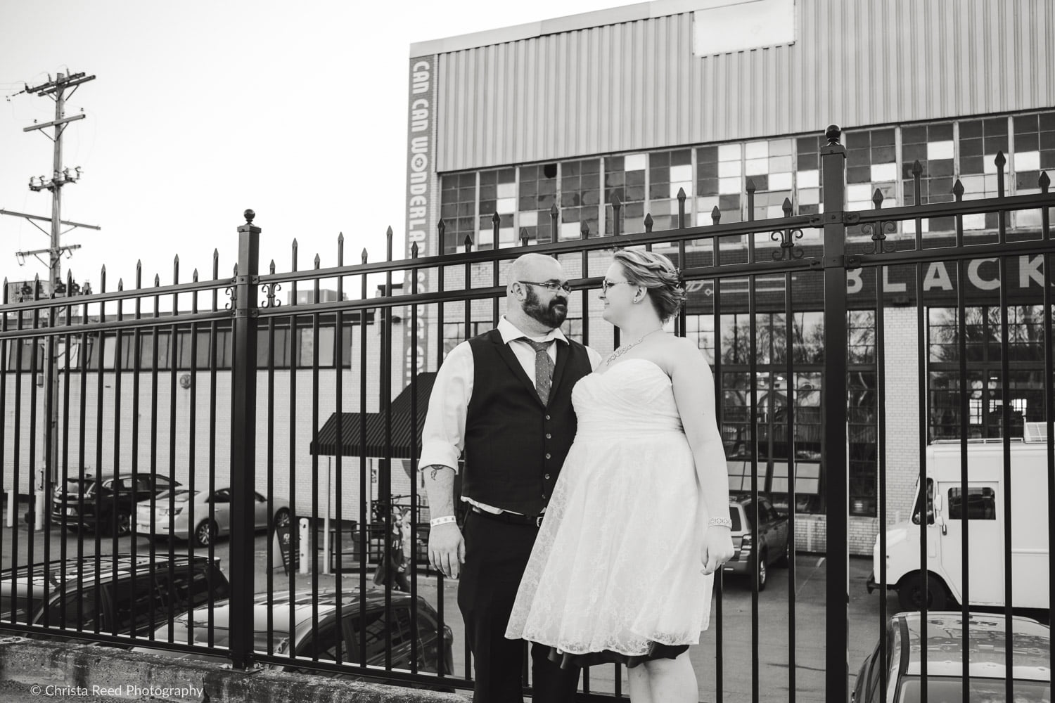 an industrial wedding venue at can can wonderland and black stack brewery