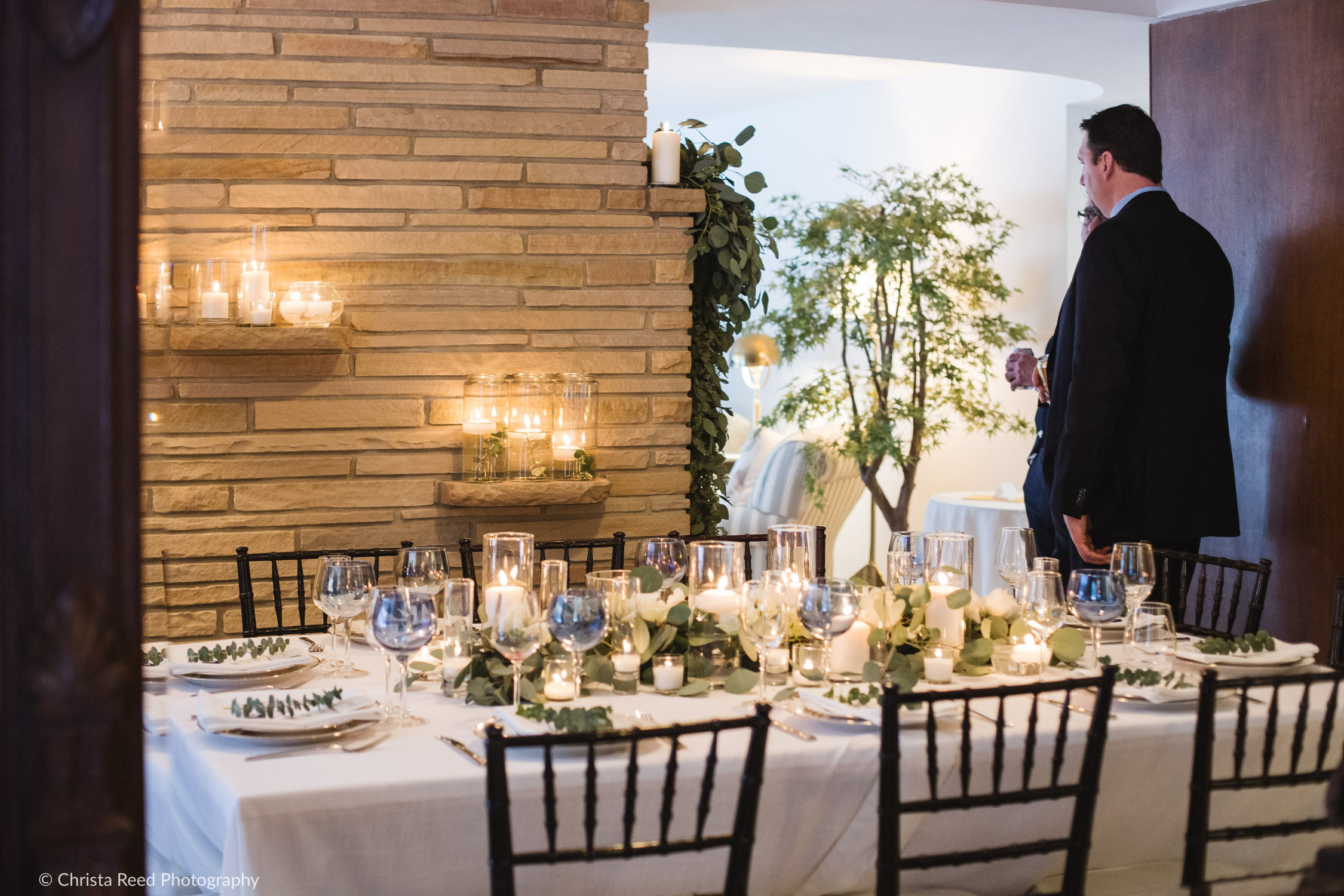 winter candlelight wedding in Minnetonka