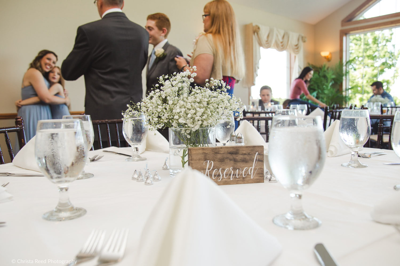 wedding reception decor at Ridges at Sand Creek