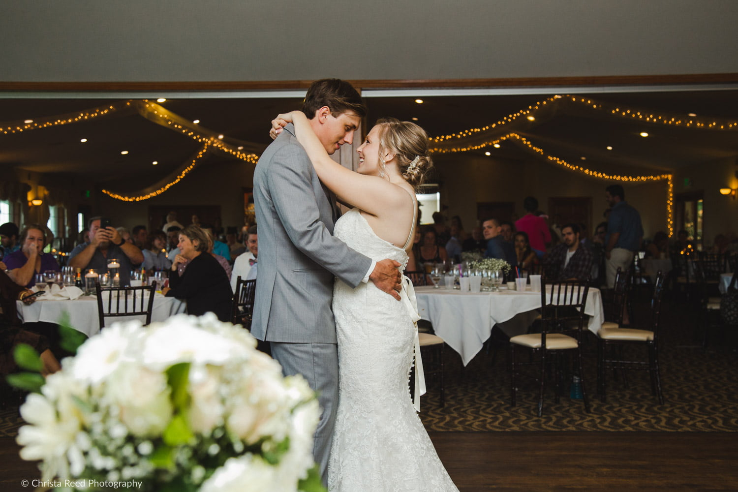 first dance at a wedding reception at ridges at sand creek