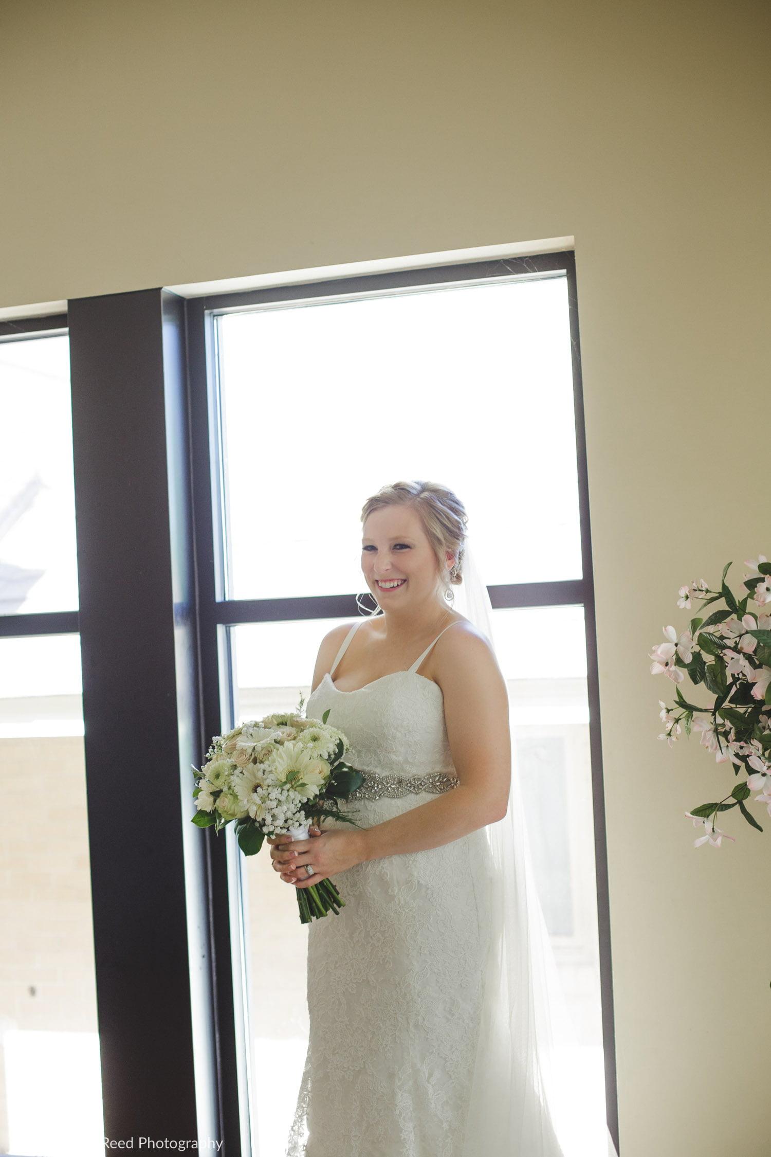 ridges at sand creek wedding ceremony bridal portrait