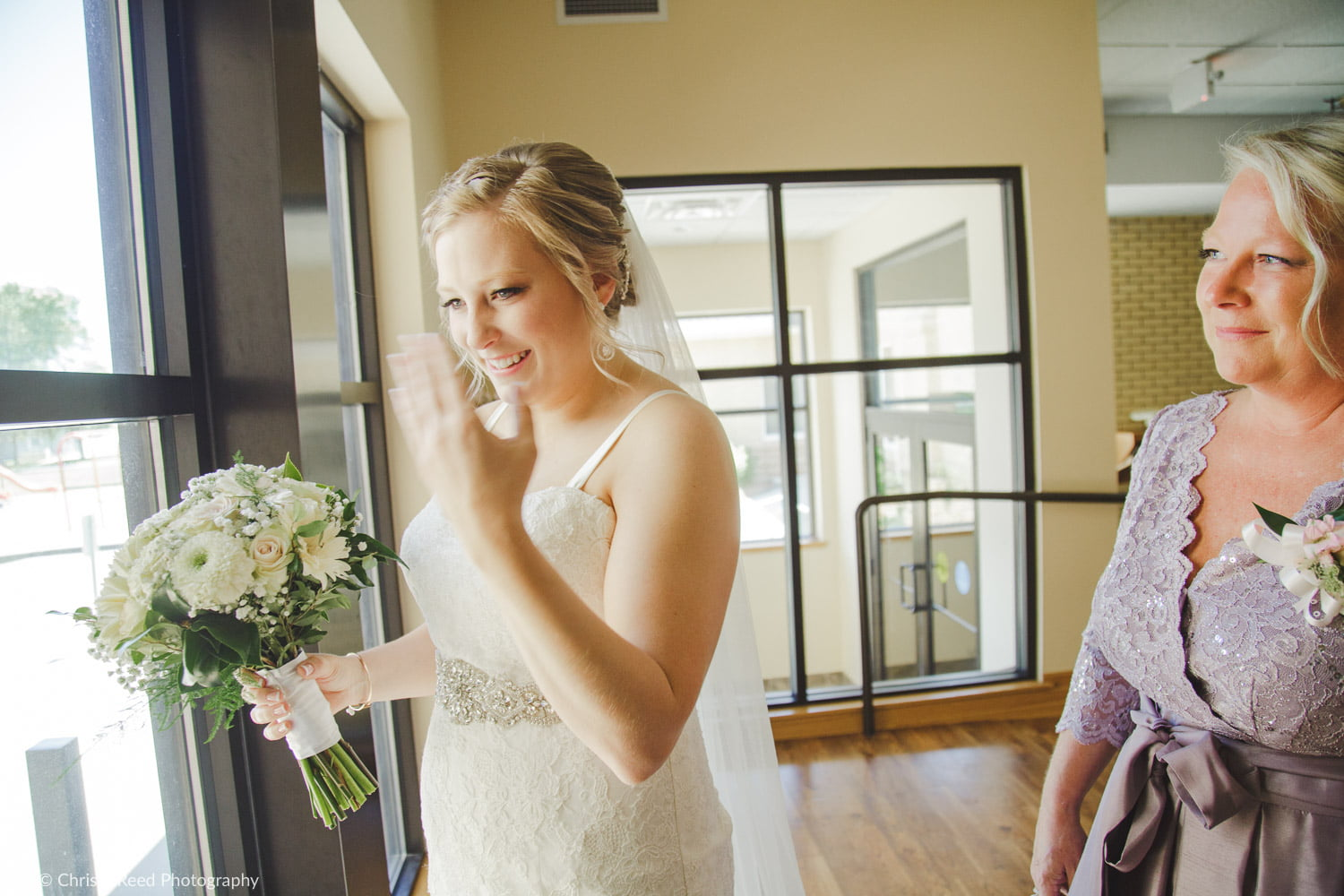 trying not to cry before your wedding