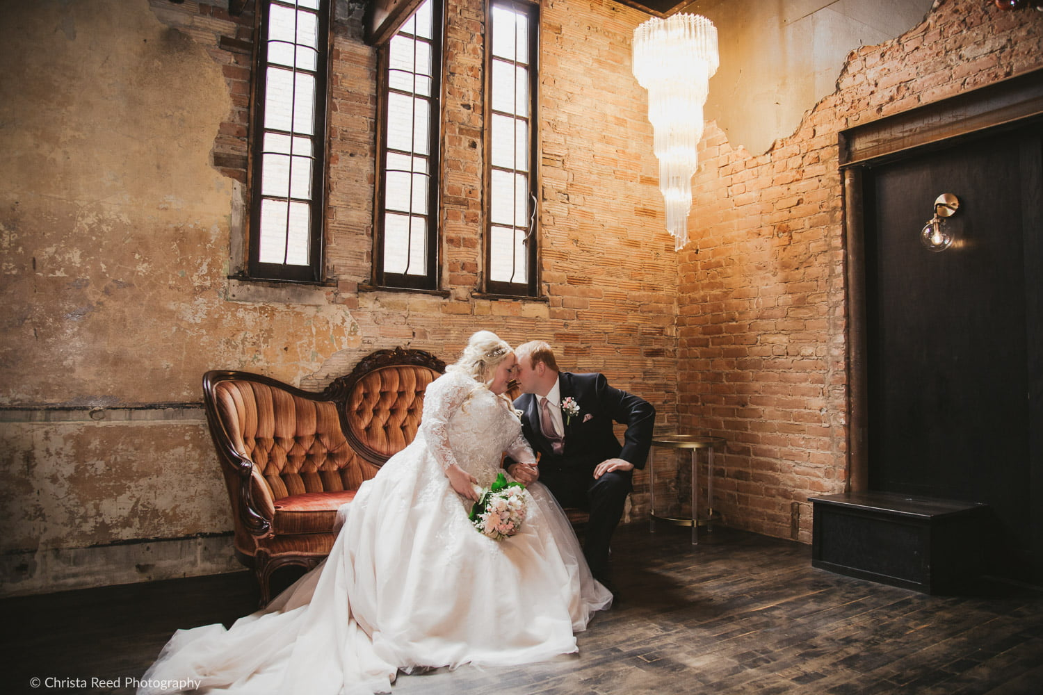 romantic wedding photography at the historic venue Capitol Room in St. Peter