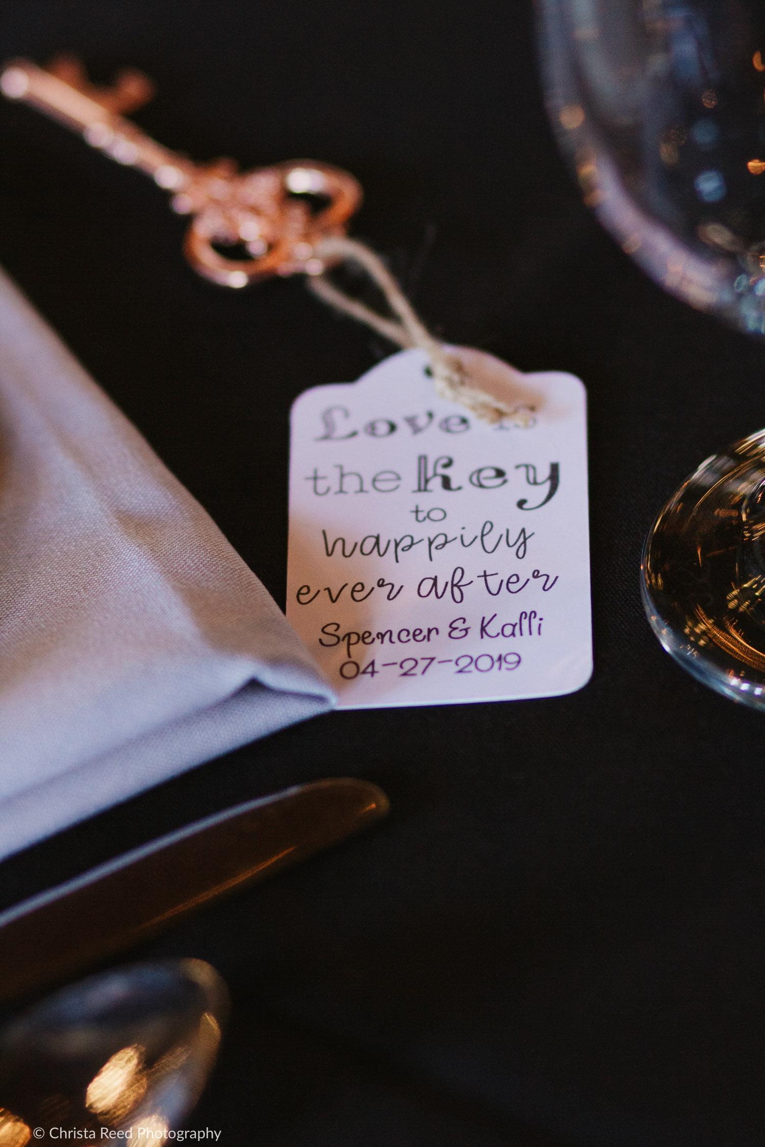 Love is the key, vintage key wedding favors