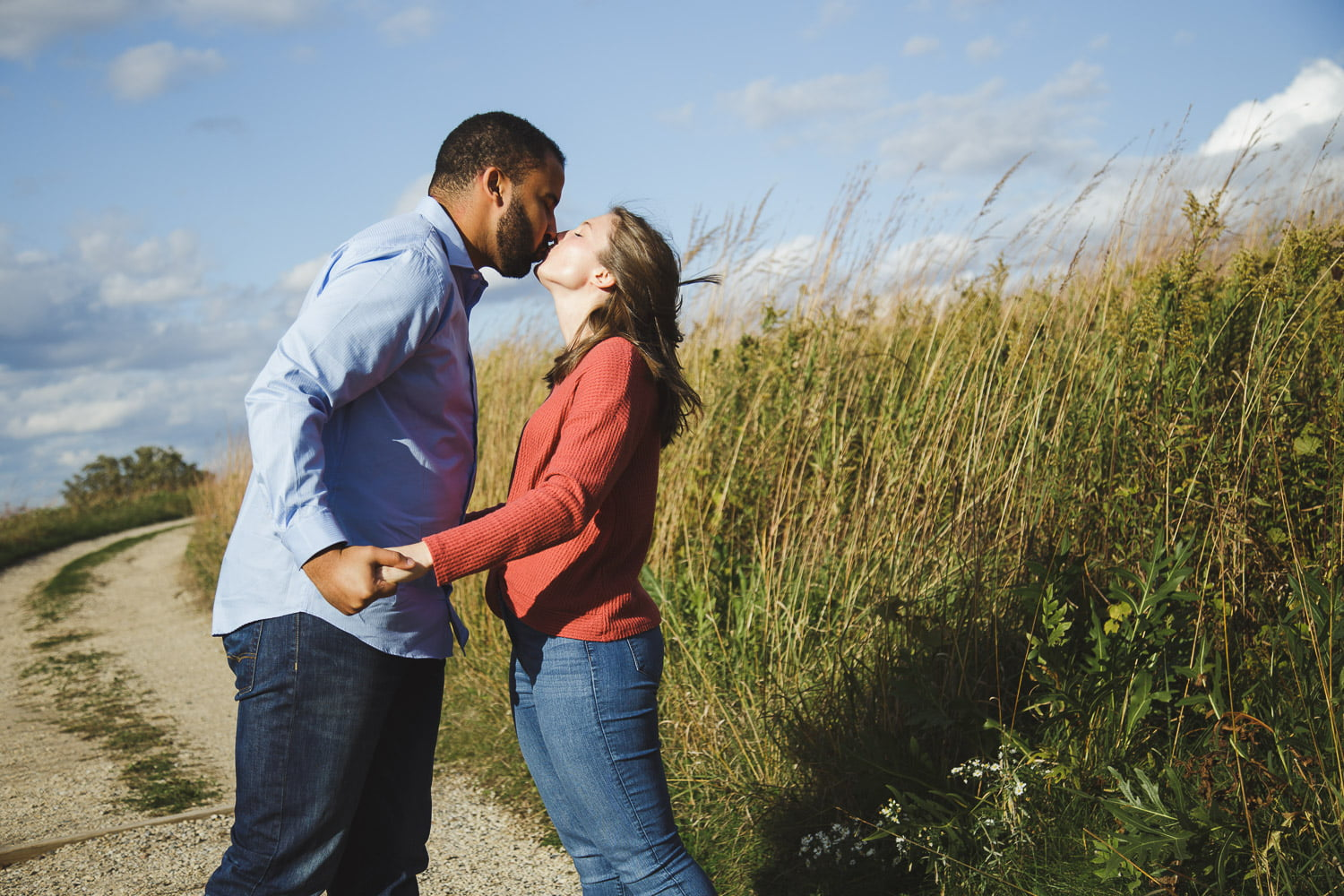 fun engagement photography in northfield mn