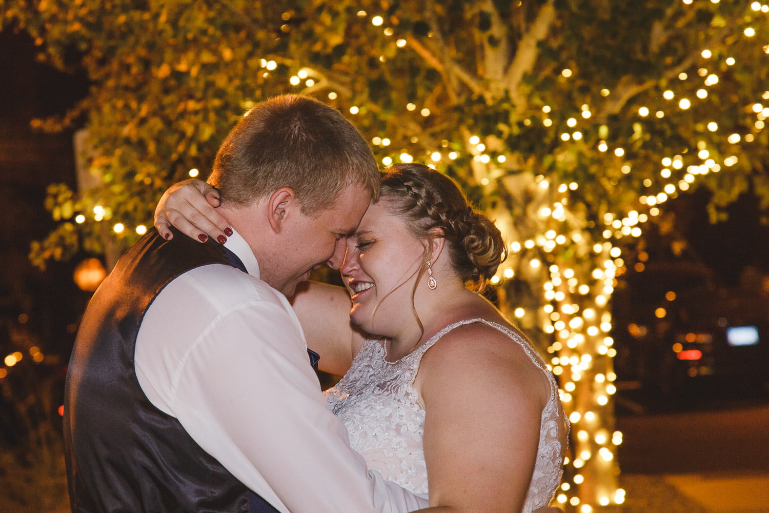 bunker hills event center wedding photography at night