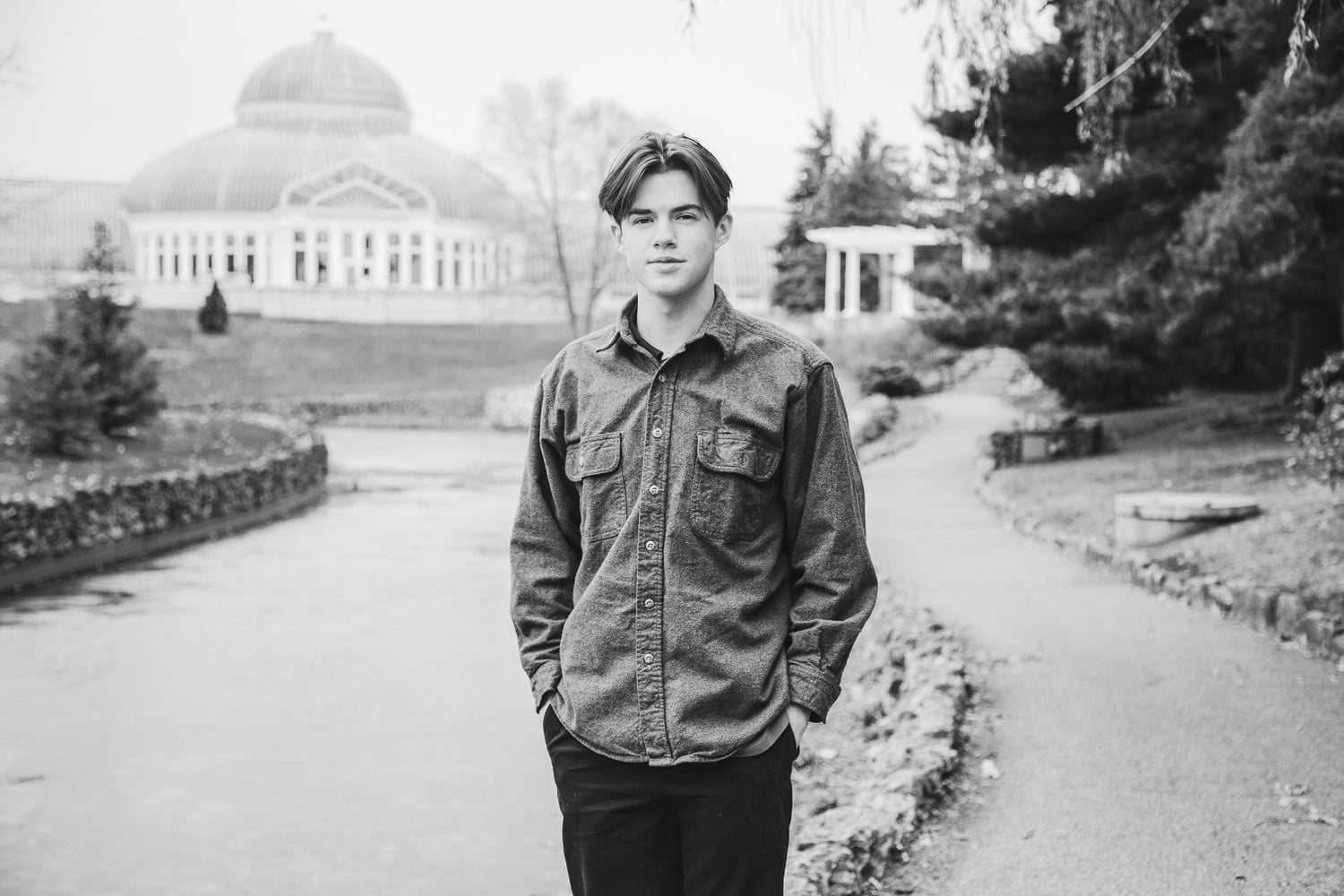 moody senior portraits in st paul at como park