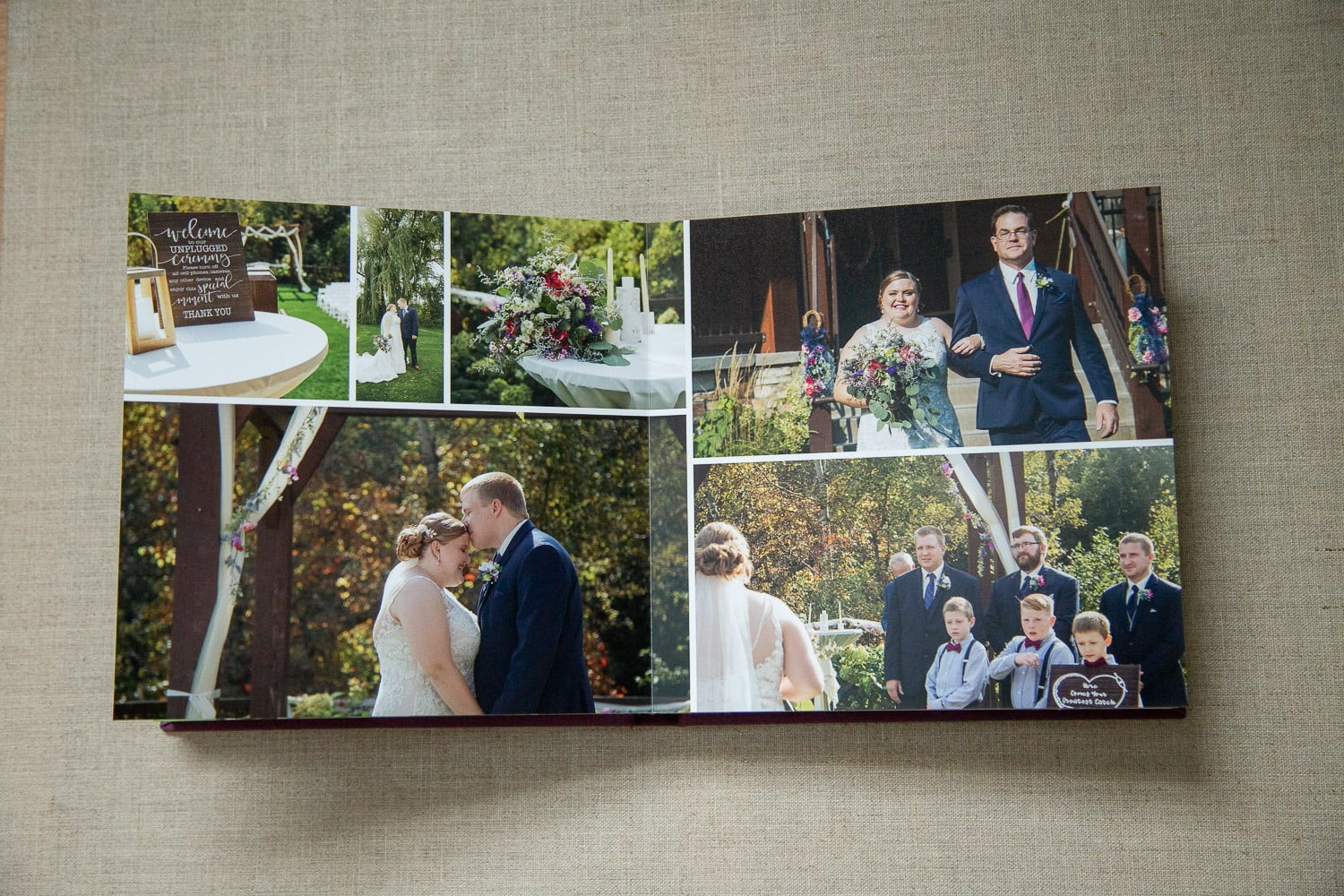 wedding albums by Minneapolis photographer