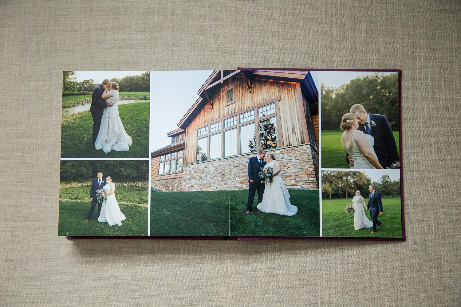 professional wedding albums from a Bunker Hills wedding photographer